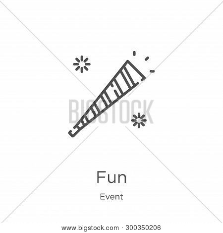 Fun Icon Isolated On White Background From Event Collection. Fun Icon Trendy And Modern Fun Symbol F
