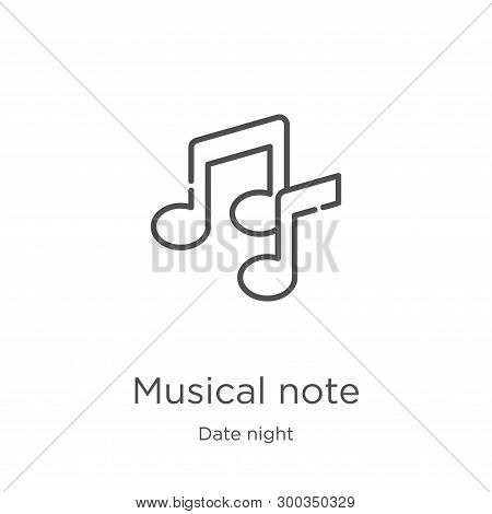 Musical Note Icon Isolated On White Background From Date Night Collection. Musical Note Icon Trendy