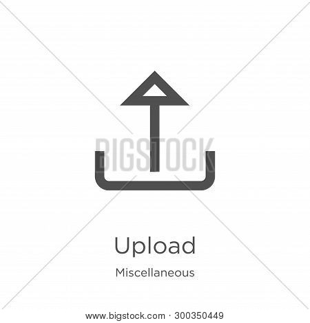 Upload Icon Isolated On White Background From Miscellaneous Collection. Upload Icon Trendy And Moder