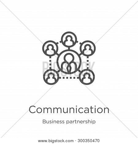 Communication Icon Isolated On White Background From Business Partnership Collection. Communication