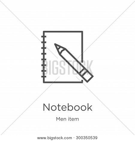 Notebook Icon Isolated On White Background From Men Item Collection. Notebook Icon Trendy And Modern