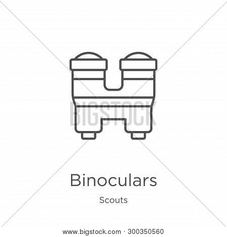 Binoculars Icon Isolated On White Background From Scouts Collection. Binoculars Icon Trendy And Mode
