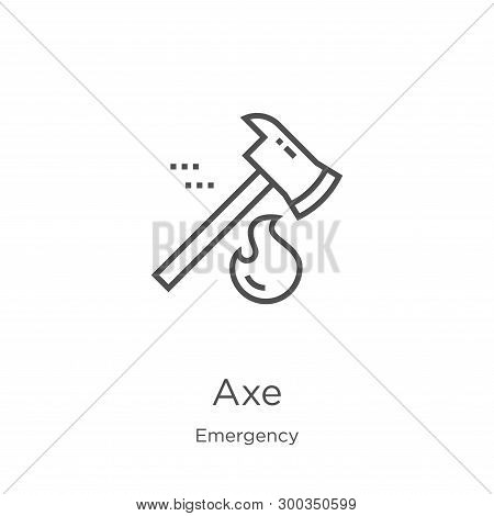 Axe Icon Isolated On White Background From Emergency Collection. Axe Icon Trendy And Modern Axe Symb