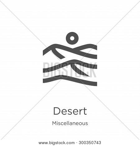 Desert Icon Isolated On White Background From Miscellaneous Collection. Desert Icon Trendy And Moder
