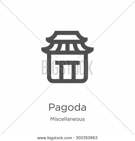 Pagoda Icon Isolated On White Background From Miscellaneous Collection. Pagoda Icon Trendy And Moder