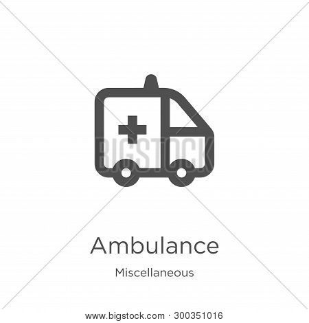 Ambulance Icon Isolated On White Background From Miscellaneous Collection. Ambulance Icon Trendy And
