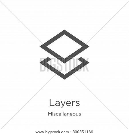 Layers Icon Isolated On White Background From Miscellaneous Collection. Layers Icon Trendy And Moder