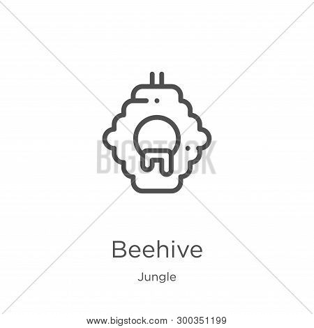 Beehive Icon Isolated On White Background From Jungle Collection. Beehive Icon Trendy And Modern Bee