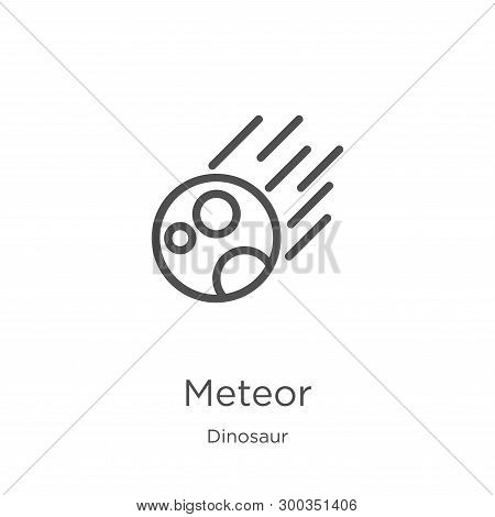 Meteor Icon Isolated On White Background From Dinosaur Collection. Meteor Icon Trendy And Modern Met