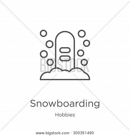 Snowboarding Icon Isolated On White Background From Hobbies Collection. Snowboarding Icon Trendy And