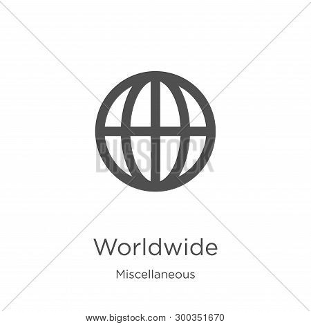 Worldwide Icon Isolated On White Background From Miscellaneous Collection. Worldwide Icon Trendy And