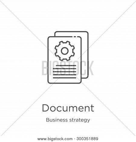 Document Icon Isolated On White Background From Business Strategy Collection. Document Icon Trendy A