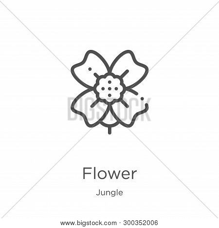 Flower Icon Isolated On White Background From Jungle Collection. Flower Icon Trendy And Modern Flowe