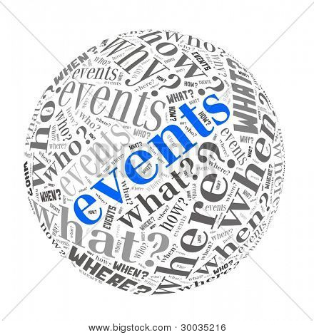 Events Concept in Word Collage