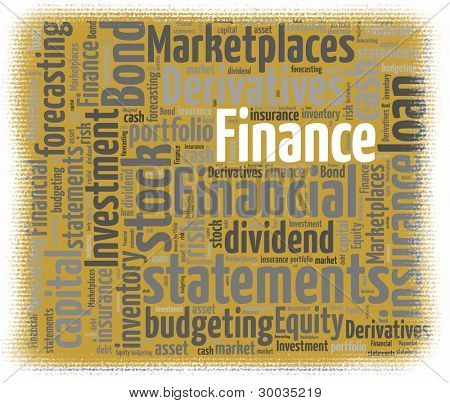 Finance Concept in Word Collage