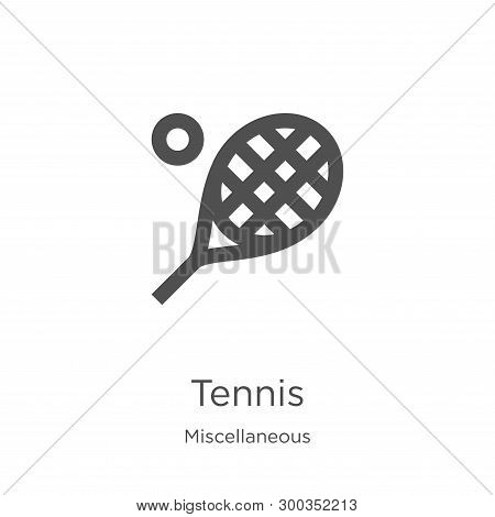 Tennis Icon Isolated On White Background From Miscellaneous Collection. Tennis Icon Trendy And Moder