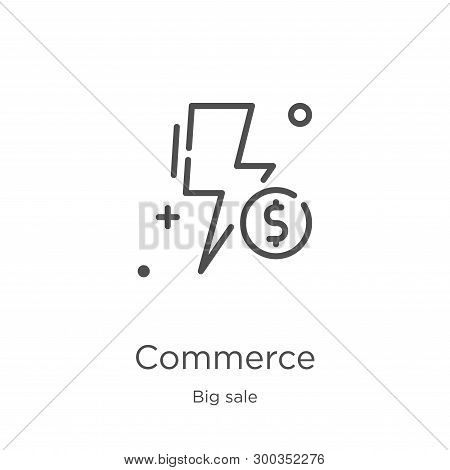 Commerce Icon Isolated On White Background From Big Sale Collection. Commerce Icon Trendy And Modern