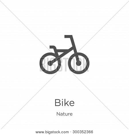 Bike Icon Isolated On White Background From Nature Collection. Bike Icon Trendy And Modern Bike Symb