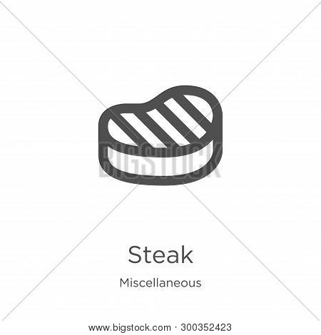Steak Icon Isolated On White Background From Miscellaneous Collection. Steak Icon Trendy And Modern