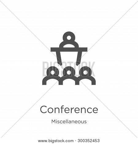 Conference Icon Isolated On White Background From Miscellaneous Collection. Conference Icon Trendy A