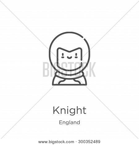 Knight Icon Isolated On White Background From England Collection. Knight Icon Trendy And Modern Knig