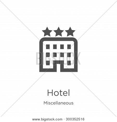 hotel icon isolated on white background from miscellaneous collection. hotel icon trendy and modern hotel symbol for logo, web, app, UI. hotel icon simple sign. hotel icon flat vector illustration for graphic and web design. poster