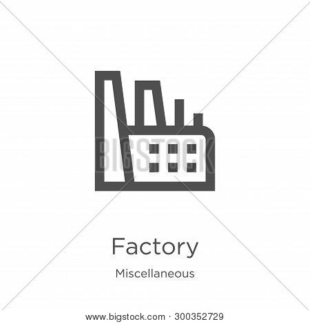 factory icon isolated on white background from miscellaneous collection. factory icon trendy and modern factory symbol for logo, web, app, UI. factory icon simple sign. factory icon flat vector illustration for graphic and web design. poster