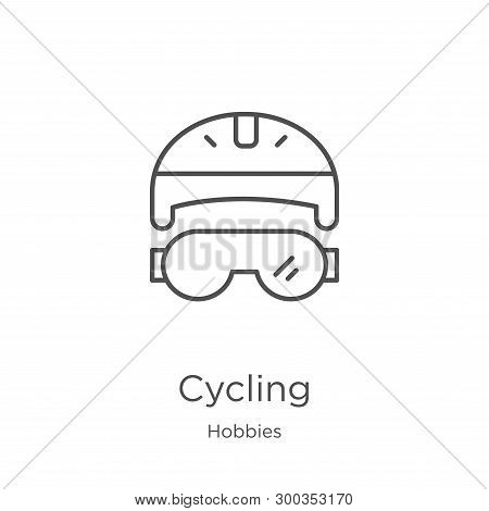 Cycling Icon Isolated On White Background From Hobbies Collection. Cycling Icon Trendy And Modern Cy