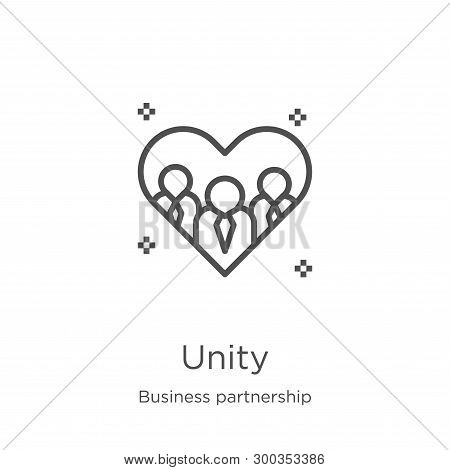 Unity Icon Isolated On White Background From Business Partnership Collection. Unity Icon Trendy And