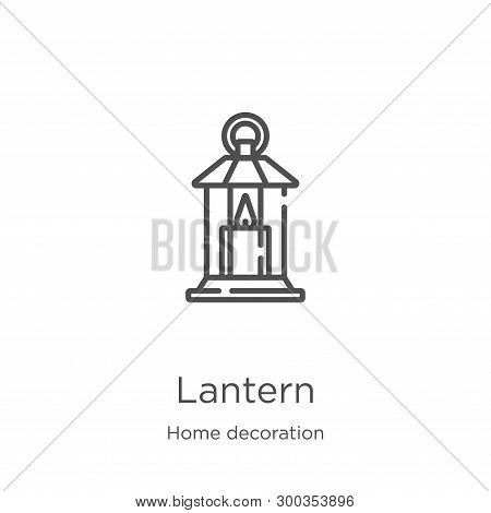 Lantern Icon Isolated On White Background From Home Decoration Collection. Lantern Icon Trendy And M