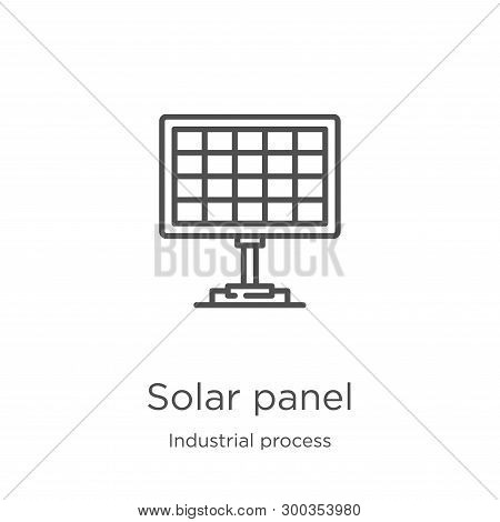 Solar Panel Icon Isolated On White Background From Industrial Process Collection. Solar Panel Icon T