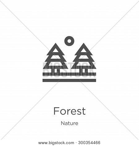 Forest Icon Isolated On White Background From Nature Collection. Forest Icon Trendy And Modern Fores
