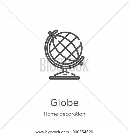 Globe Icon Isolated On White Background From Home Decoration Collection. Globe Icon Trendy And Moder