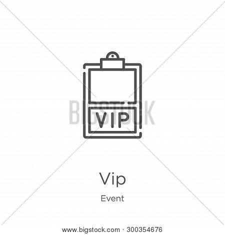 Vip Icon Isolated On White Background From Event Collection. Vip Icon Trendy And Modern Vip Symbol F