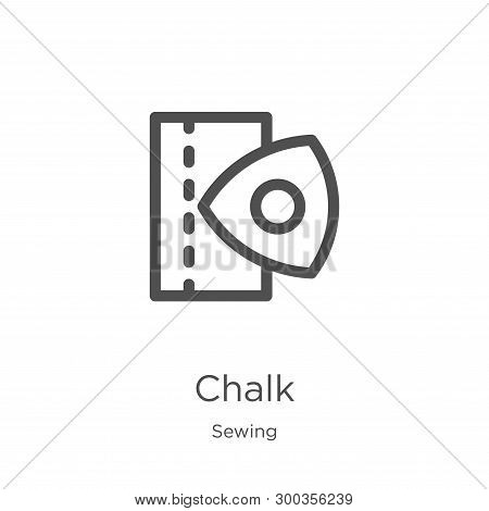 Chalk Icon Isolated On White Background From Sewing Collection. Chalk Icon Trendy And Modern Chalk S