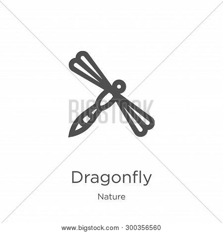 Dragonfly Icon Isolated On White Background From Nature Collection. Dragonfly Icon Trendy And Modern