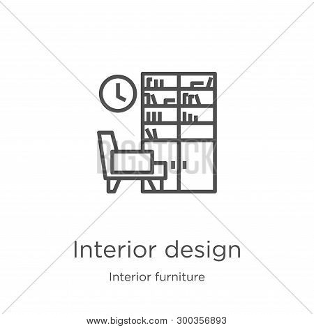 Interior Design Icon Isolated On White Background From Interior Furniture Collection. Interior Desig