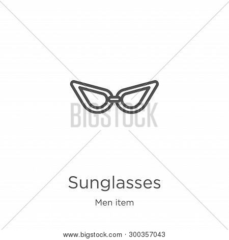 Sunglasses Icon Isolated On White Background From Men Item Collection. Sunglasses Icon Trendy And Mo