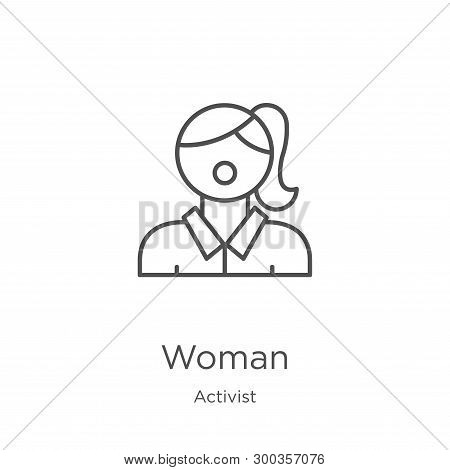 Woman Icon Isolated On White Background From Activist Collection. Woman Icon Trendy And Modern Woman