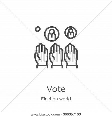 Vote Icon Isolated On White Background From Election World Collection. Vote Icon Trendy And Modern V