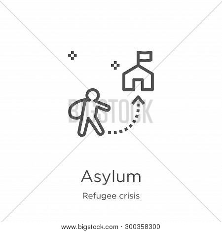 Asylum Icon Isolated On White Background From Refugee Crisis Collection. Asylum Icon Trendy And Mode