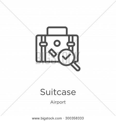 Suitcase Icon Isolated On White Background From Airport Collection. Suitcase Icon Trendy And Modern