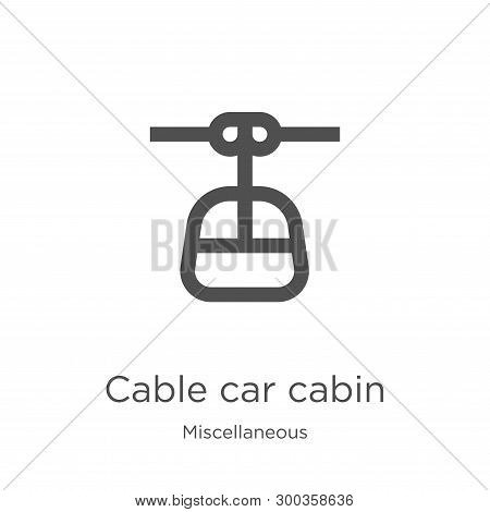 Cable Car Cabin Icon Isolated On White Background From Miscellaneous Collection. Cable Car Cabin Ico