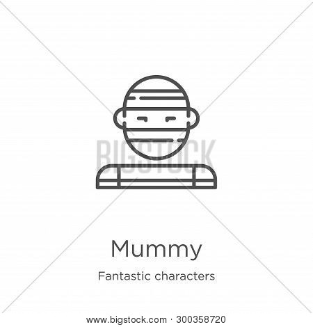 Mummy Icon Isolated On White Background From Fantastic Characters Collection. Mummy Icon Trendy And