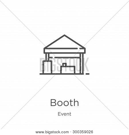 Booth Icon Isolated On White Background From Event Collection. Booth Icon Trendy And Modern Booth Sy