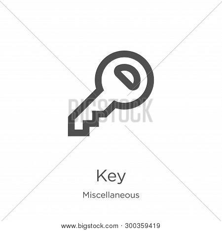 Key Icon Isolated On White Background From Miscellaneous Collection. Key Icon Trendy And Modern Key