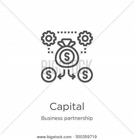 Capital Icon Isolated On White Background From Business Partnership Collection. Capital Icon Trendy