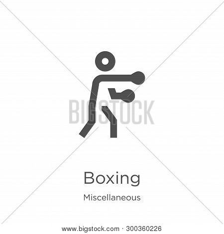 Boxing Icon Isolated On White Background From Miscellaneous Collection. Boxing Icon Trendy And Moder