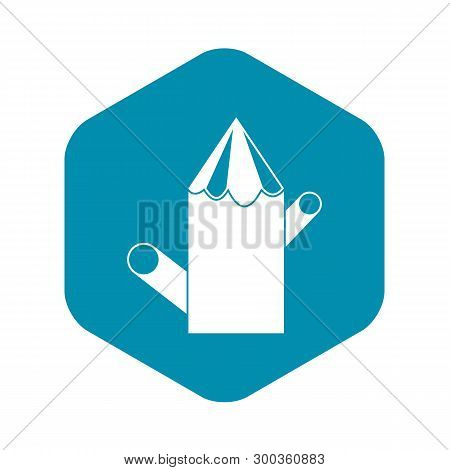 Wooden Stump Icon. Simple Illustration Of Wooden Stump Vector Icon For Web