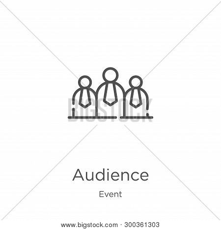 Audience Icon Isolated On White Background From Event Collection. Audience Icon Trendy And Modern Au